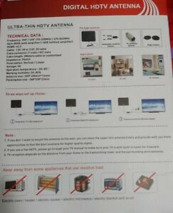 TV Antenna - watch free channels. New in Box