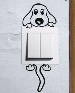 Cute Cartoon Doggy light switch funny wall decal vinyl stickers Puppy Pet Dog a - <span itemprop='availableAtOrFrom'>Wilkowice, Polska</span> - Zwroty są przyjmowane - Wilkowice, Polska