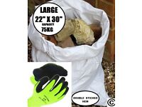 QTY 100 2ft x 3ft Woven Polypropylene Rubble Sacks LARGE Rubble Sacks WPP Waste