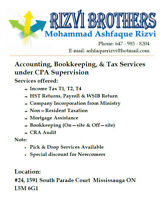 Rizvi Brothers - Bookkeeping, Account and Tax Services