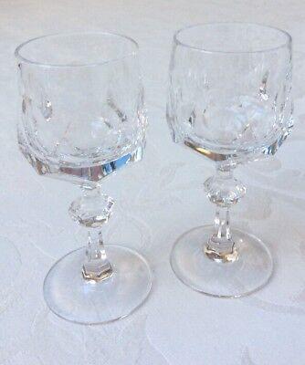 2 Südwein Portwein Gläser Nachtmann Alexandra 13 cm Vintage Blei Kristallglas ()