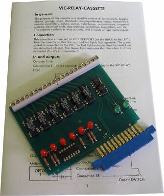 New - Commodore 64/128 VIC REL  Cartridge with instructions