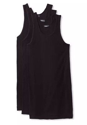 2 ( X ) Ist Tank-top (NEW BLACK S 2(X)IST Essential Ribbd Lot 3 Pack Cotton Tank Top Performnce Strtch)