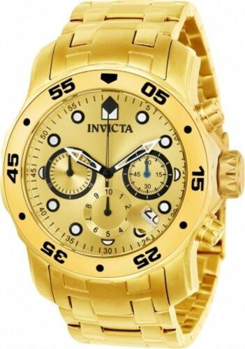 Invicta Men's Watch Pro Diver Scuba Quartz Chronograph Gold