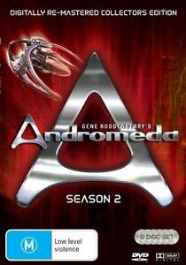 ANDROMEDA - SEASON 2 - RE-MASTERED EDITION (6 DVD SET) BRAND NEW!!! SEALED!!!