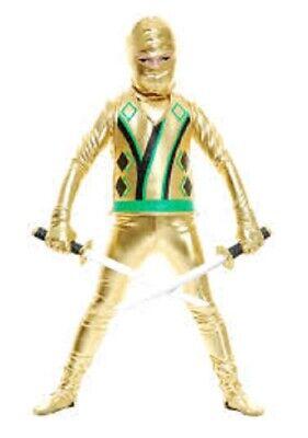 Boys' Gold Ninja Avengers Series III Costume,XL #H-011 - Gold Ninja