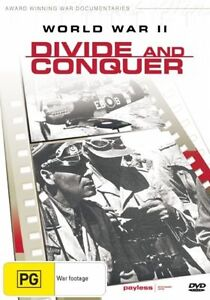 WORLD WAR II - DIVID AND CONQUER DVD, ALL REGION BRAND NEW AND SEALED, FREE POST