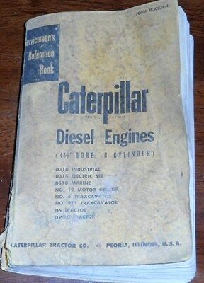 Caterpillar Diesel Engines 4 12 Bore 6 Cylinder Servicemens Reference Manual