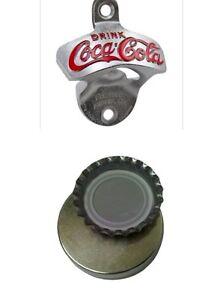 coca cola coke bottle opener magnetic cap catcher bar wall mount beer soda new. Black Bedroom Furniture Sets. Home Design Ideas
