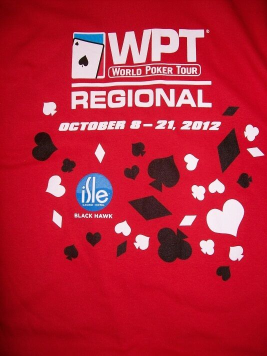 WPT WORLD POKER TOUR REGIONAL COLORADO 2012 FINAL TABLE T-SHIRT LARGE NEVER WORN