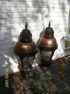 2 Large Vintage Antique Style Street Lamp Lights
