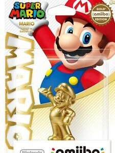 BRAND NEW MARIO GOLD AMIIBO