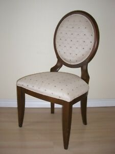 LOUIS FRENCH STYLE OVAL BACK CHAIR