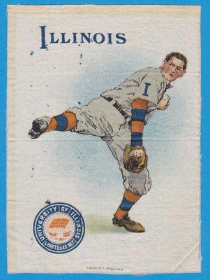 1910 tobacco LG silk S21 University of Illinois Pitcher