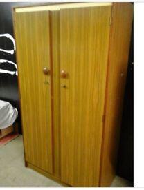 Albro vintage 70s bedroom suite 2 wardrobes & sideboard VGC