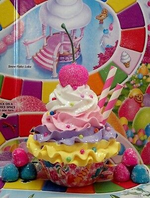Candy Land theme Fake Cupcake for birthday Party Decorations or Photo Props