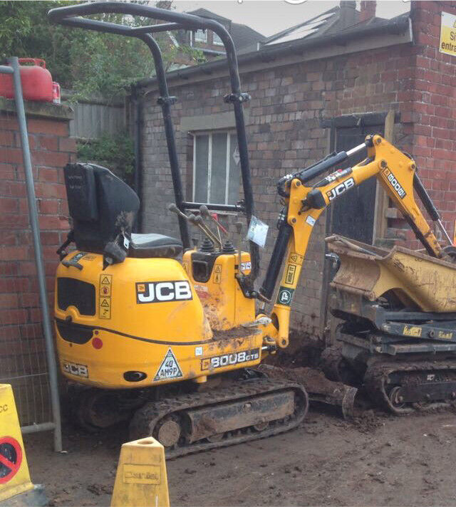 Man with digger hire from £250 per day