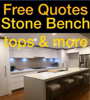 Kitchen cabinets and stone bench tops manufactured and installed