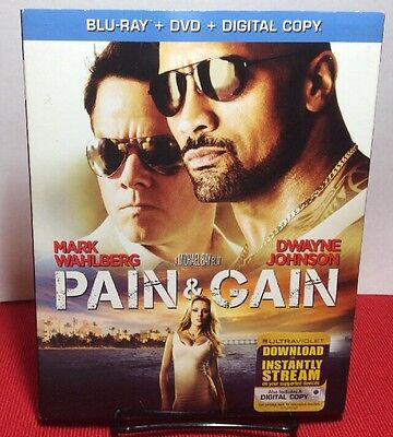 Pain   Gain  Blu Ray  2013  Free S H   Mark Wahlberg  Dwayne The Rock Johnson