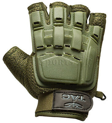 Valken V-Tac Olive Tactical Half Finger Paintball Gloves Small X-Small XS/S NEW