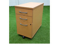 Beech slimline pedestal cheap office furniture harlow essex london