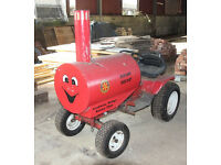 Converted garden tractor and trailer for publicitiy purposes