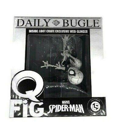 Marvel  Q-Fig Daily Bugle Spiderman Web Slinger  New  Limited ED