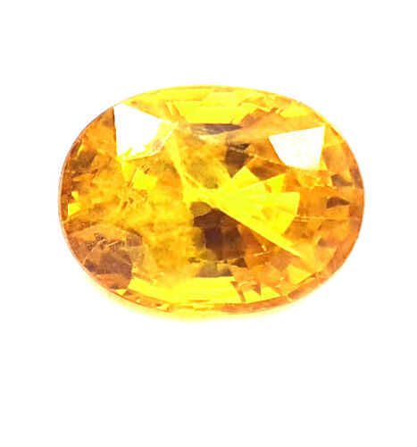 100% Finest Quality Certified 3.25Ct Natural Yellow Sapphire Loose Gemstone