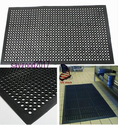 Non-slip Anti-fatigue Floor Mat Bar Kitchen Restaurant Pool Drainage Rugs Mats ()