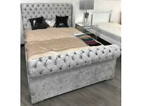 Chesterfield sleigh bed brand new