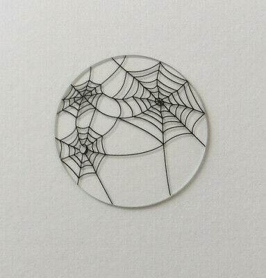 Authentic Origami Owl BNWOT Large Halloween Spider Webs Clear Plate