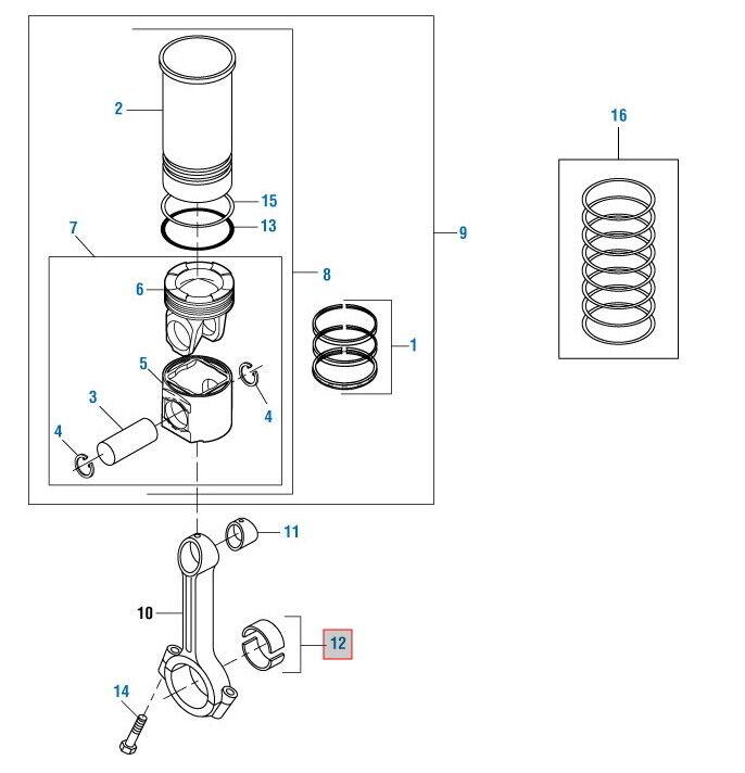 [ANLQ_8698]  Rod Bearing for International DT466 DT466E STD. PAI# 470100 Ref# 1822389C91  | eBay | International 466t Engine Coolant Diagram |  | eBay