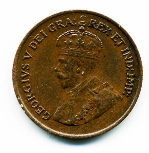 CANADA KING GEORGE V 1924 ONE CENT (KEY DATE) AU