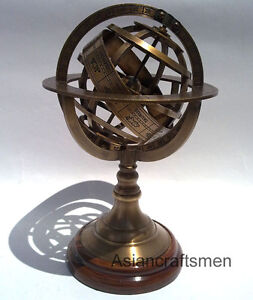 GREAT-BRASS-ARMILLARY-SPHERE-NAUTICAL-DECOR-ARMILLARY-GLOBE-8