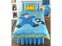 Postman Pat single duvet cover and pillowcase