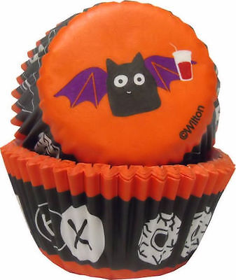 Spooky Halloween Baking (Bat Spooky Pop Halloween Mini Baking Cups 100 ct from Wilton #0443 -)
