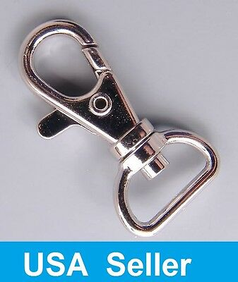 Metal Lanyard Hook Swivel Snap For Paracord Lobster Clasp Clips Lot 50 100 (Metal Swivel)