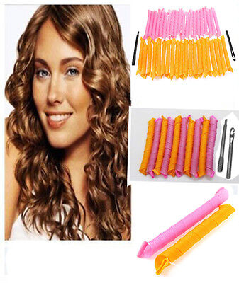 """40pcs 50cm 20"""" Magic Hair Curlers Curl Formers Spiral Ringlets Leverage Rollers"""