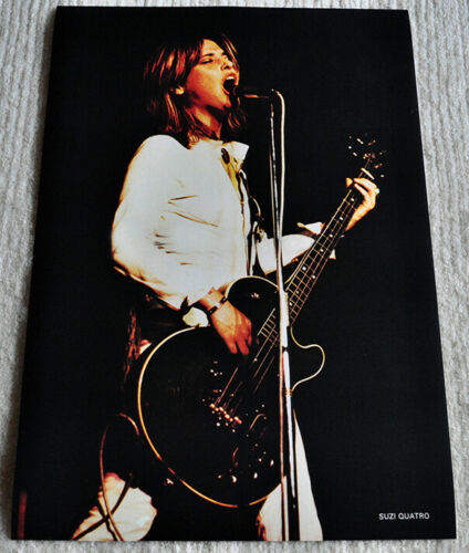 Suzi Quatro poster Suzi with her famous bass on stage live poster RaRe!