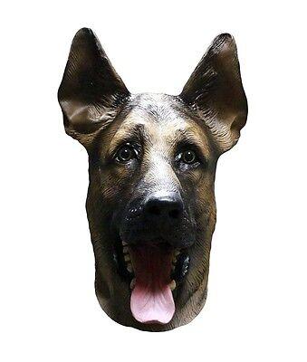 German Shepherd Alsatian Mask Dog Latex Full Head Halloween Canine Fancy Dress - Halloween Chili Dogs