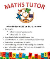 Maths Tutor - Personalized and affordable service