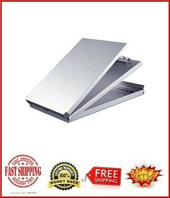 Aluminum Metal Clipboard Case Folder With Storage Contractor Rn Nurse Coach Work