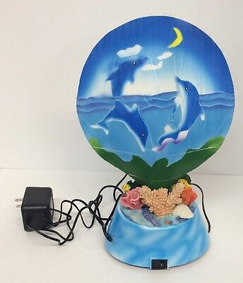 Fiber Optic Dolphin Light New Collectable Night Light Lamp Electric