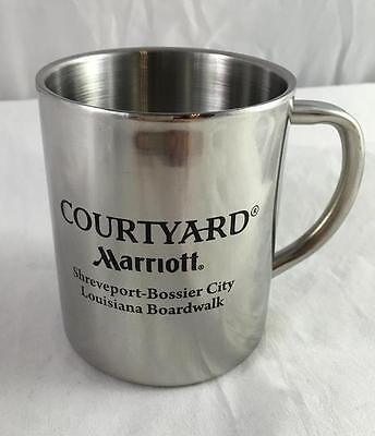 New Marriott Courtyard Shreveport Bossier City Louisiana Boardwalk Steel Mug