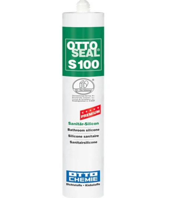 Ottoseal S 100 Premium-Sanitär-Silicon C501 Hellgrau 300ml