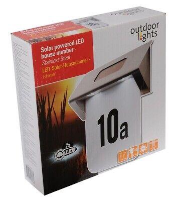 LED Energía Solar Número Casa Placa Señal Puerta Luz Dirección Pared Exterior