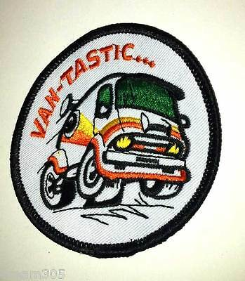 VANTASTIC Disco Vintage Van Boogie Ford Dodge Chevy Van 1970's Patch Badge !