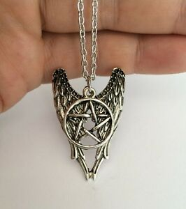 Devil Angel Wings Pentagram Supernatural Wicca Necklace and Pendant Jewellery