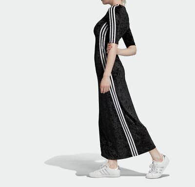 ADIDAS ORIGINALS VELVET  MAXI  DRESS  BNWT SIZE UK 8,10,16  LAST 3  RARE