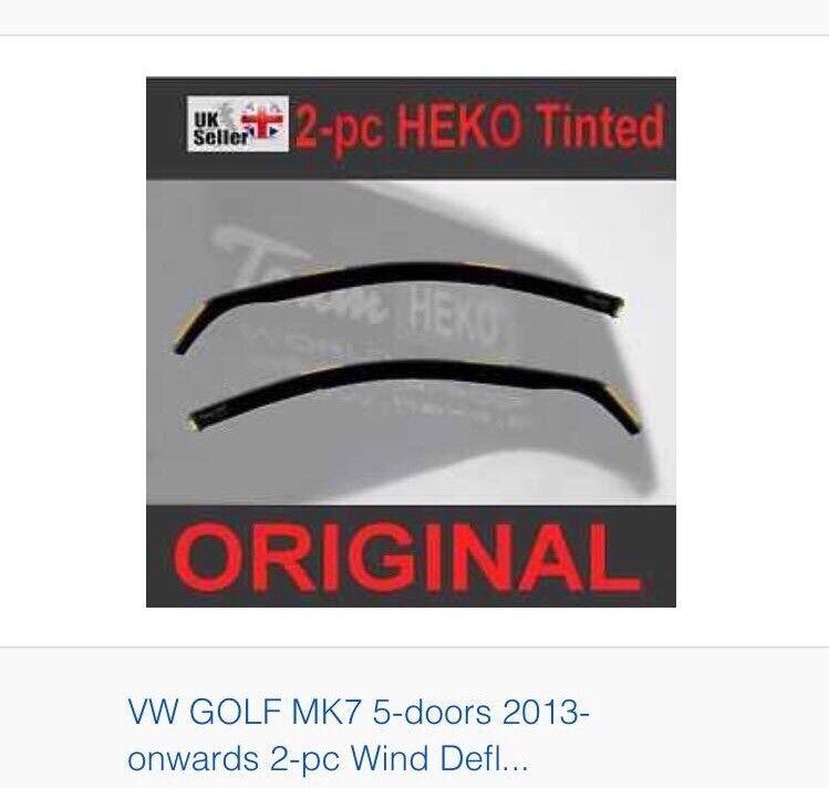 Brand new five door mk7 golf wind deflecters